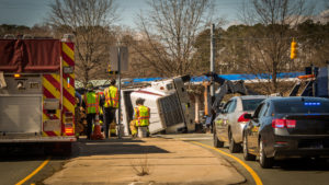 Picture of a truck accident representing how our law firm can assist you with truck accident issues