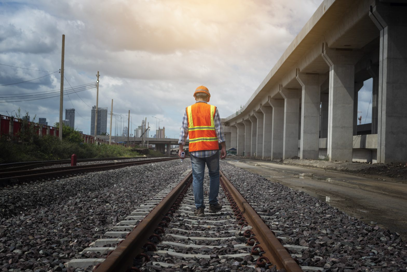 Railway worker on tracks when hurt at jobsite hire Norfolk FELA Claim Attorney.